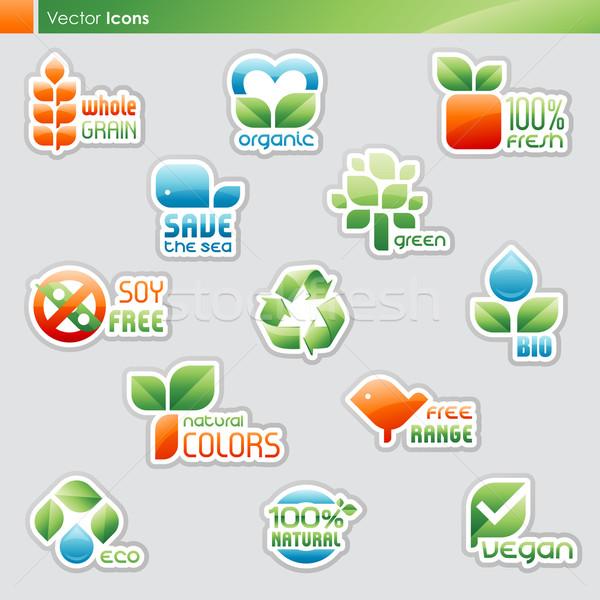 Stockfoto: Collectie · dieet · gezonde · voeding · symbolen · iconen