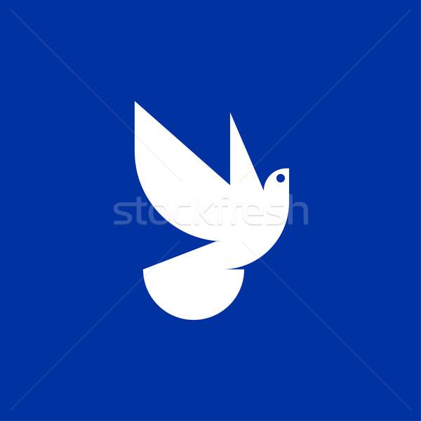 Peace dove icon or logo template Stock photo © ussr