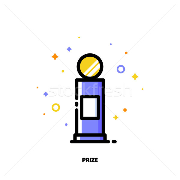 Icon of first grand prize for success or winner concept Stock photo © ussr