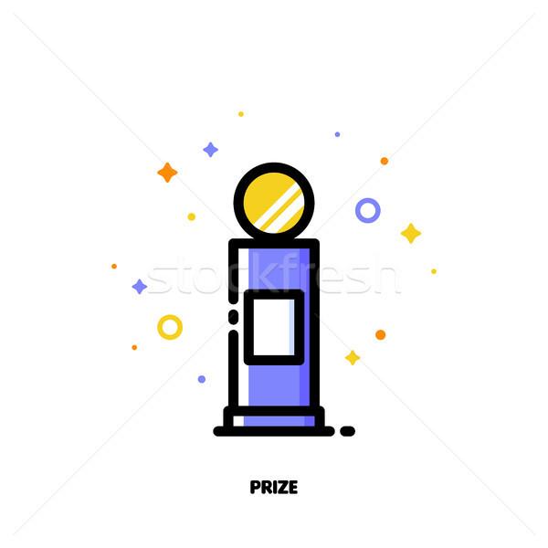Icono primero premio éxito ganador Foto stock © ussr