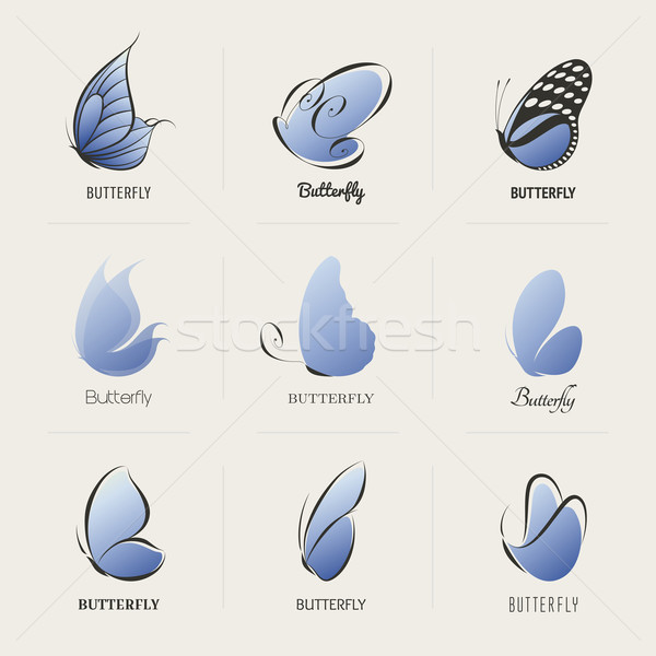 Butterfly. Collection of design elements. Vector illustration. Stock photo © ussr