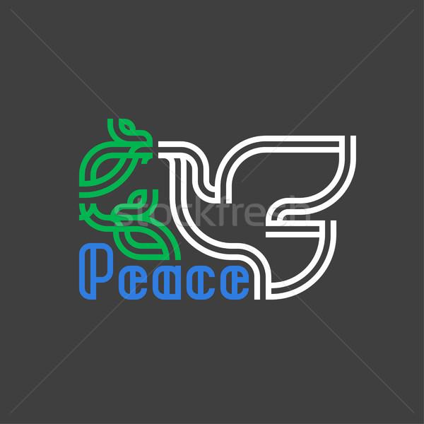 Pace giorno carta retro colomba Foto d'archivio © ussr