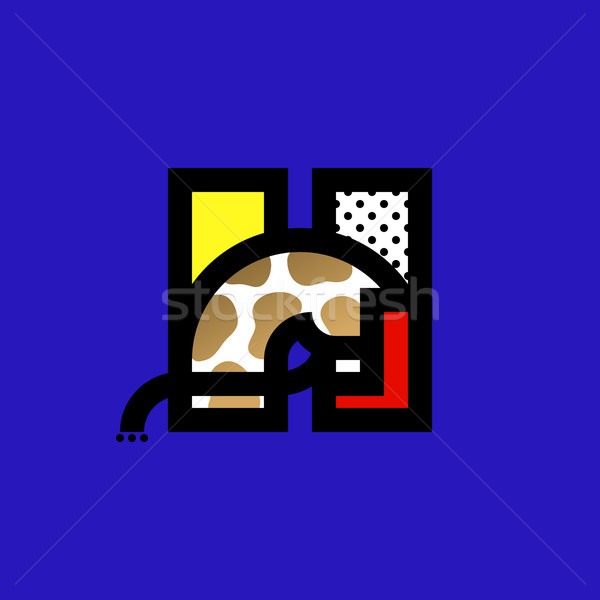 Elegant icon or logo template of horse and h letter Stock photo © ussr