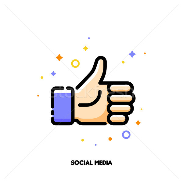 A like button for social networking services, internet forums Stock photo © ussr
