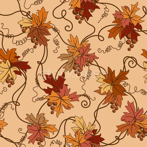 Сток-фото: бесшовный · листва · лист · фон · искусства · осень