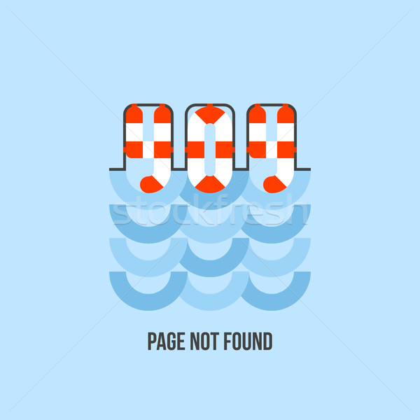 Lifebuoy in water looks like 404 error. Website page is not found Stock photo © ussr