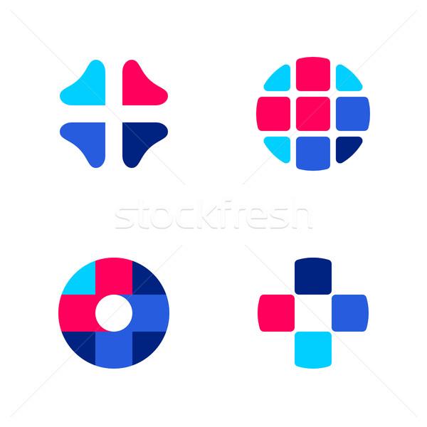 Stok fotoğraf: Ayarlamak · soyut · tıbbi · vektör · logo
