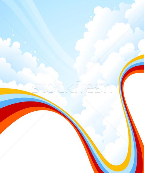 Felhők égbolt tájkép terv háló kék Stock fotó © ussr