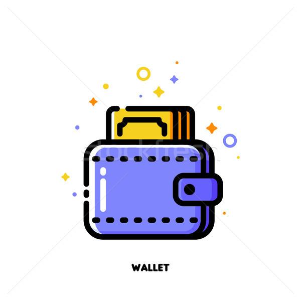 ícone carteira dinheiro estilo Foto stock © ussr