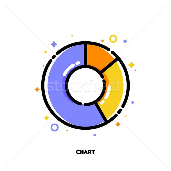 Ikon kördiagram prezentációk web design körkörös infografika Stock fotó © ussr