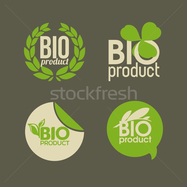 Foto stock: Bio · produto · vetor · folha