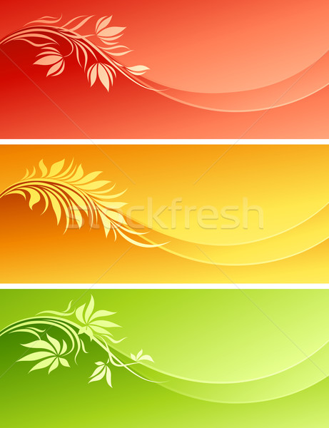 Abstract floral design. Vector illustration. Stock photo © ussr