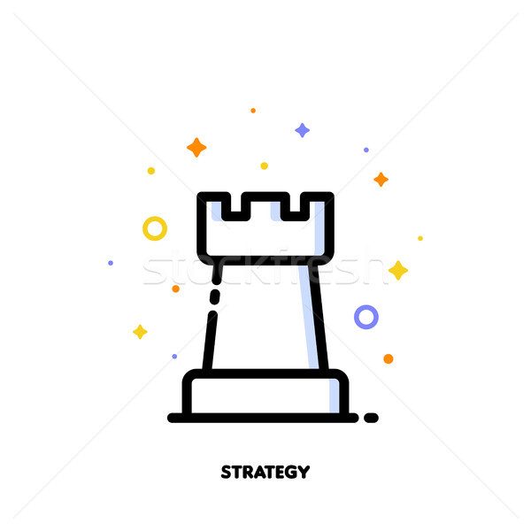 Icon of rook chess piece for business plan or strategy concept Stock photo © ussr