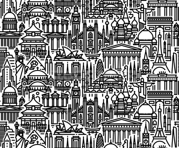 Stadsgezicht populair toeristische moderne lijn Stockfoto © ussr