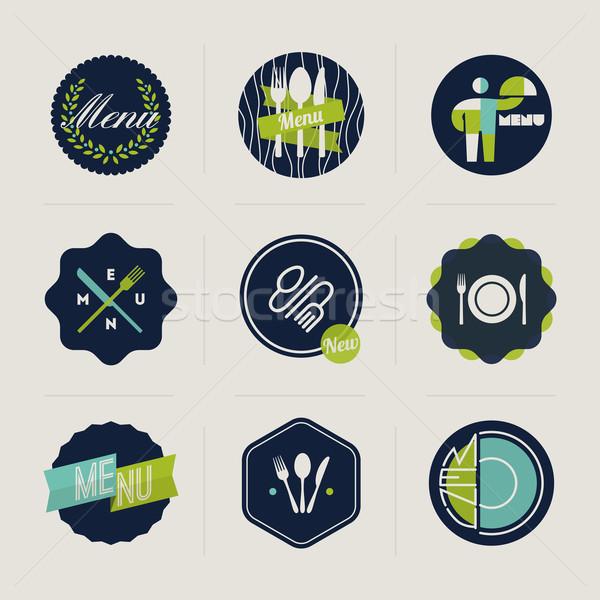 ресторан меню Этикетки набор вектора дизайна Сток-фото © ussr