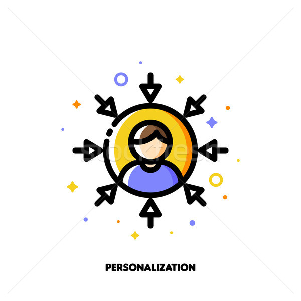 Personalization of social media marketing. Icon with user avatar Stock photo © ussr