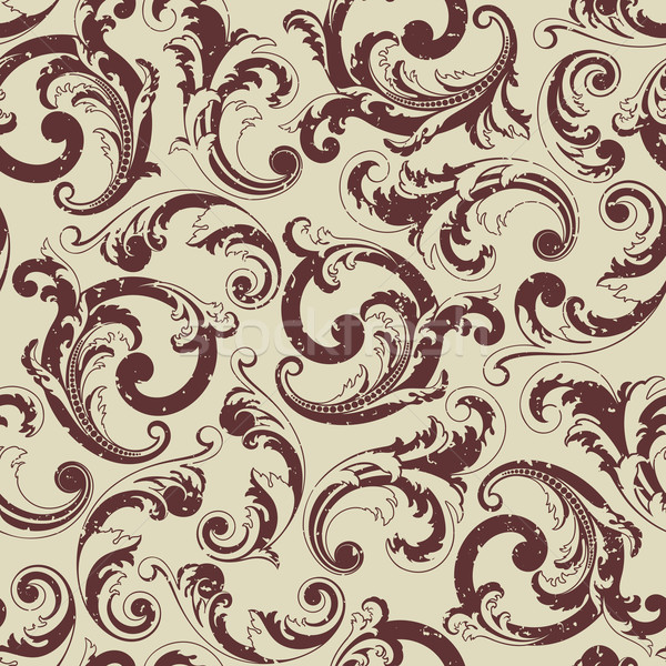 Seamless baroque pattern. Grunge on a separate layer.  Stock photo © ussr