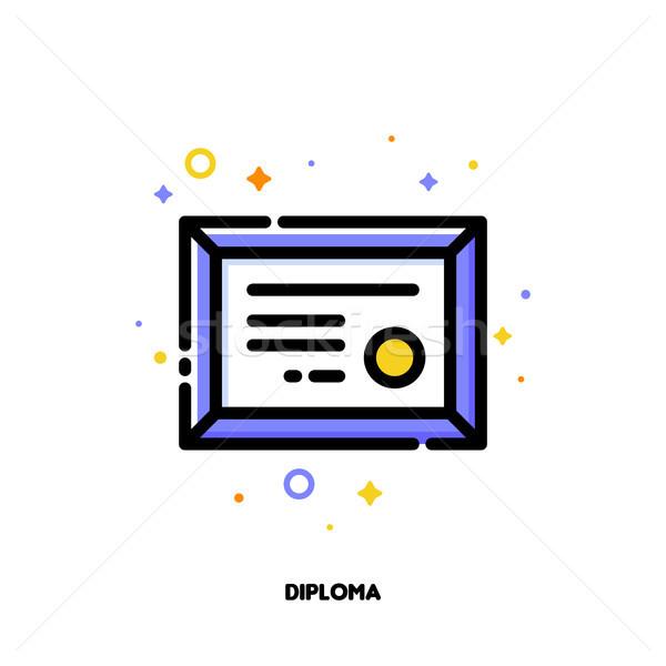 ícone diploma ouro selar sucesso vencedor Foto stock © ussr