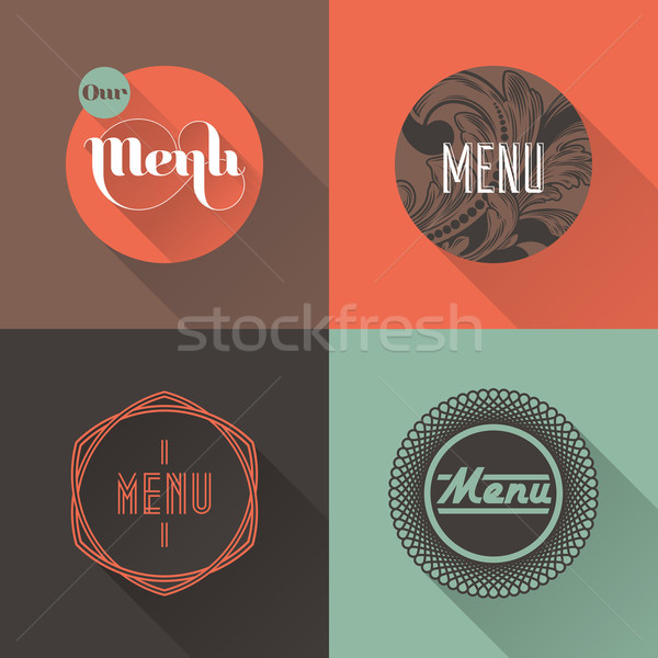 Restaurant menu ontwerp abstract Blauw Stockfoto © ussr