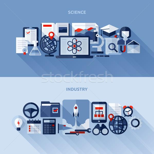 Photo stock: Vecteur · design · science · industrie · livre