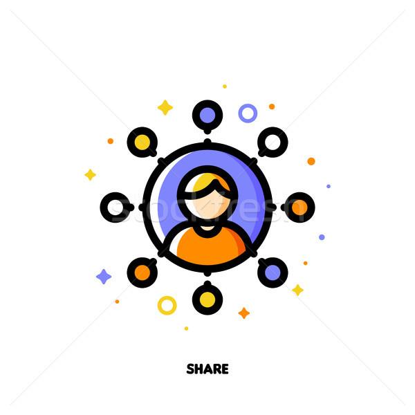 Globális közösségi média adat osztás internet felhasználó Stock fotó © ussr