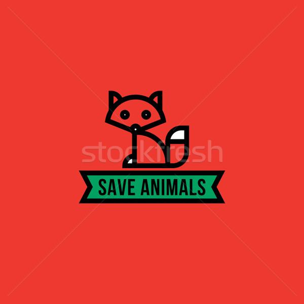 сохранить животные красный Fox глаза оранжевый Сток-фото © ussr