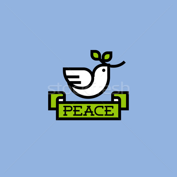 Peace dove with green branch Stock photo © ussr