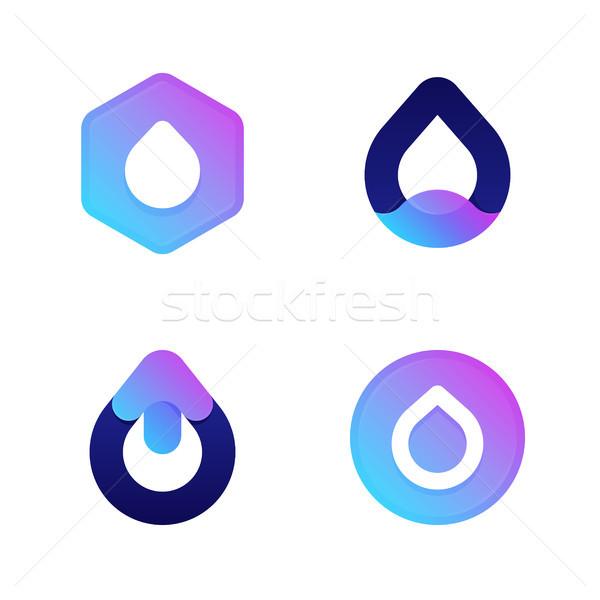 капли Cool вектора иконки логотип Сток-фото © ussr