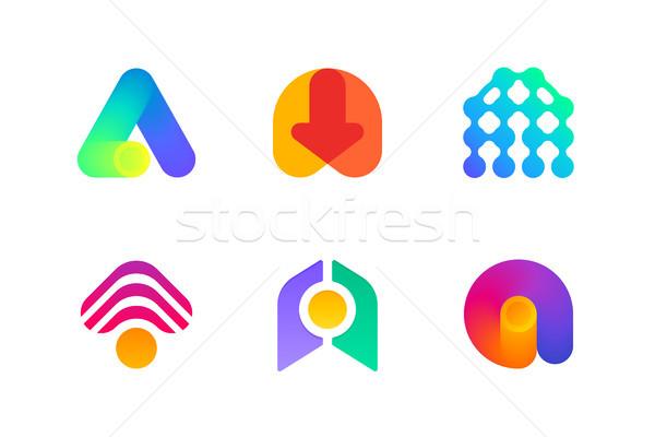 Logo ikon levél könyvelés ipar modern Stock fotó © ussr