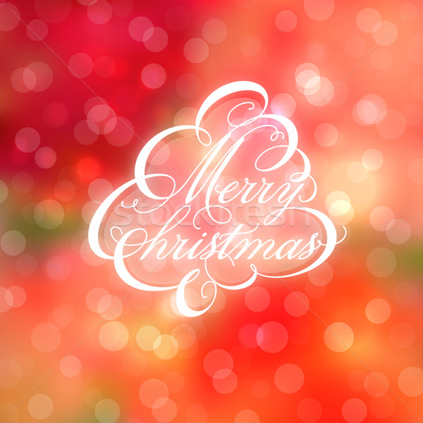 Calligraphic Christmas tree on bokeh background. Vector illustration. Stock photo © ussr