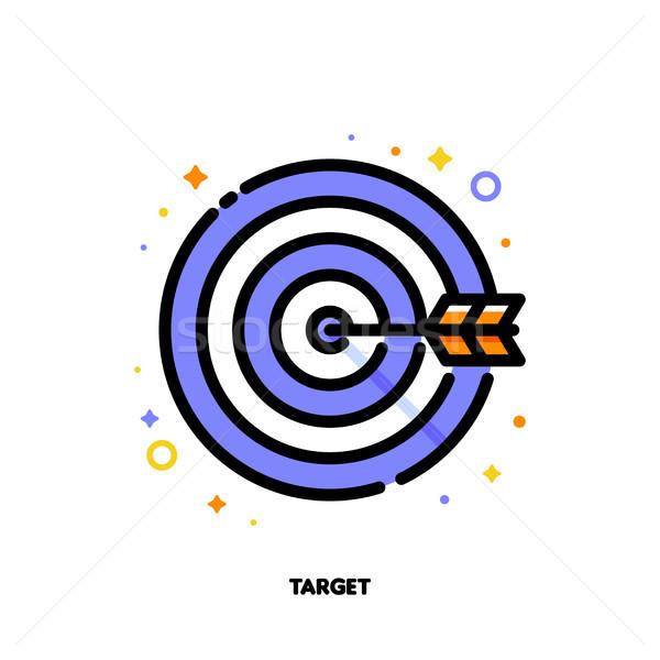 икона стрелка центр совета бизнеса целевой Сток-фото © ussr