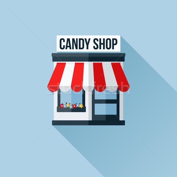 Vetor ícone elegante compras armazenar boutique Foto stock © ussr