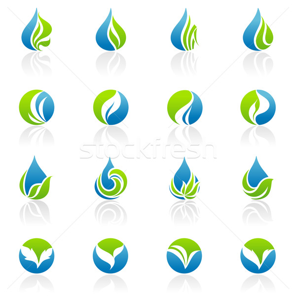 Leaves. Vector logo template set. Elements for design. Stock photo © ussr