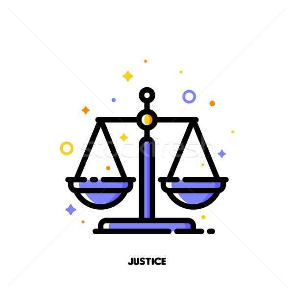 Icon of justice scales for law and justice concept Stock photo © ussr