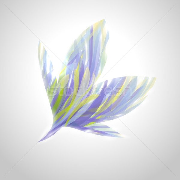 Shiny striped blue flower. Vector illustration. Stock photo © ussr