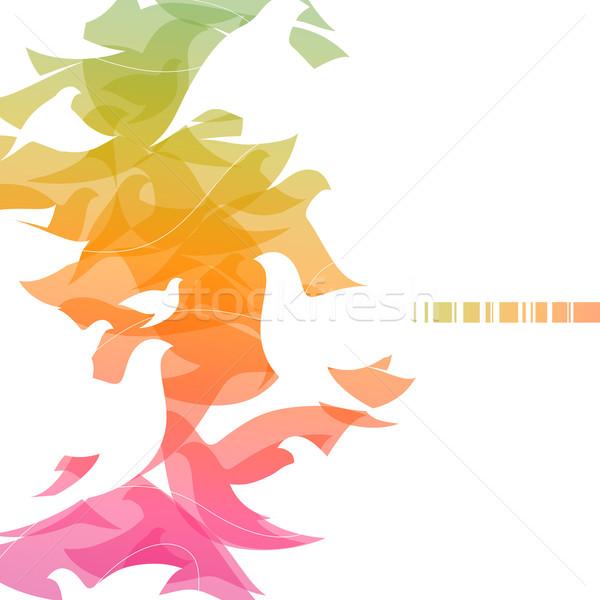 Résumé design mariage fond plumes Photo stock © ussr
