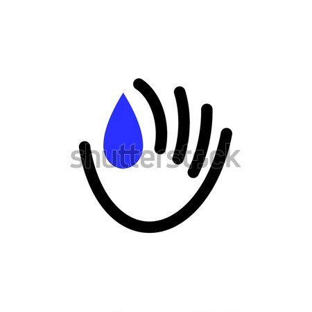 Icon or logo template of donate blood concept for blood donor day Stock photo © ussr