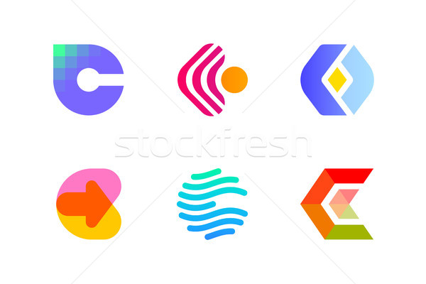 Logo or icon of letter C for cryptocurrency and blockchain Stock photo © ussr