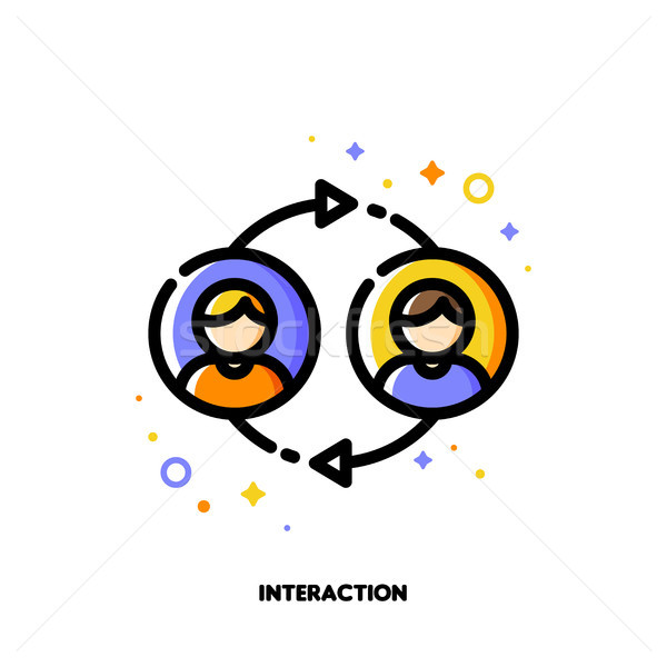 User interaction, people communication or customer discussion Stock photo © ussr