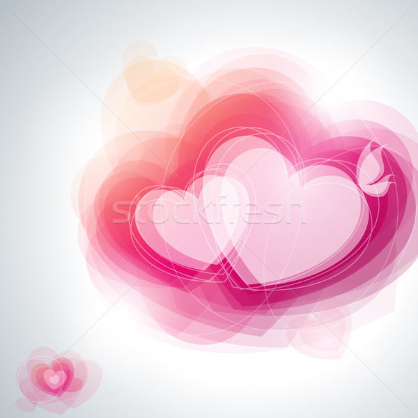 Abstract hearts. Vector illustration. Stock photo © ussr
