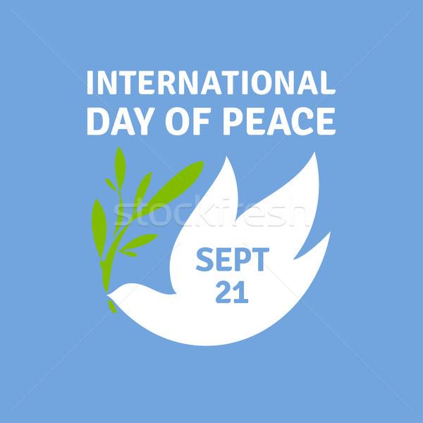 Kartkę z życzeniami międzynarodowych dzień pokoju elegancki dove Zdjęcia stock © ussr