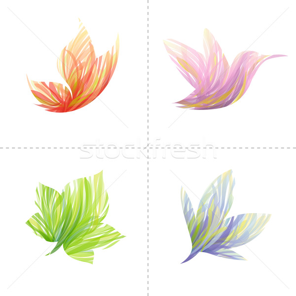 Collection of colorful design elements: butterfly, hummingbird,  Stock photo © ussr