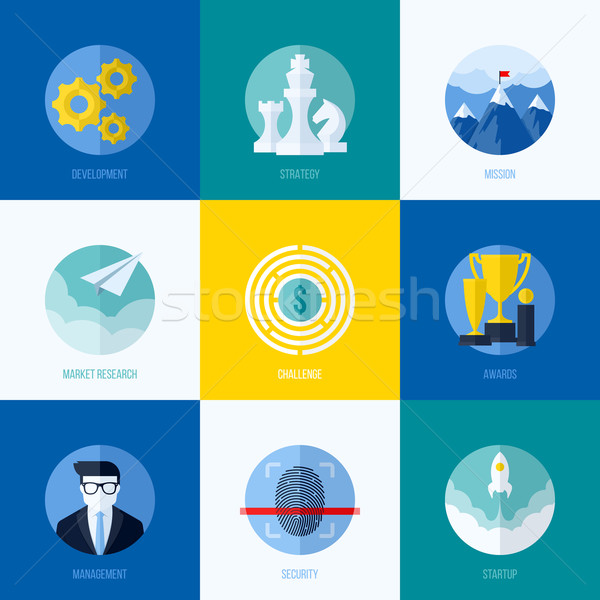 Stock photo: Modern flat vector concepts for websites, mobile apps and printed materials. Icons of development,