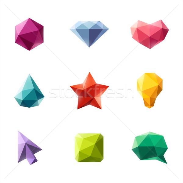 幾何学的な セット デザイン 要素 水 抽象的な ストックフォト © ussr