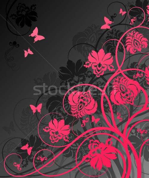 Stock photo: Floral background.