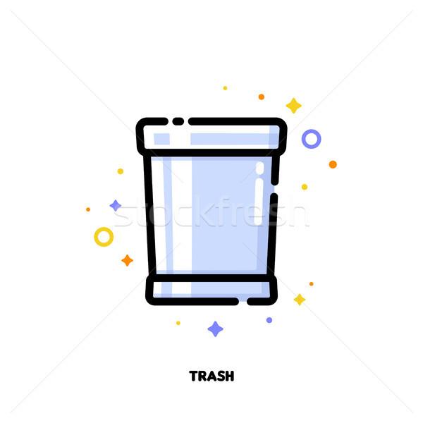 ícone cesto de lixo trabalho de escritório estilo Foto stock © ussr