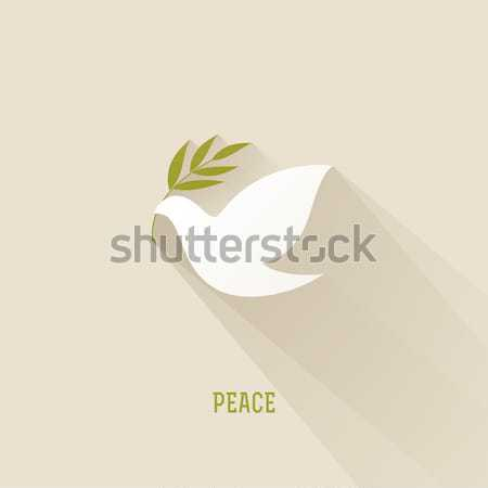 Peace dove with olive branch. Vector illustration Stock photo © ussr