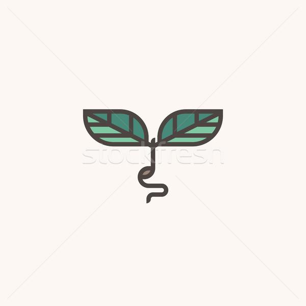 свежие органический современных линия логотип Сток-фото © ussr