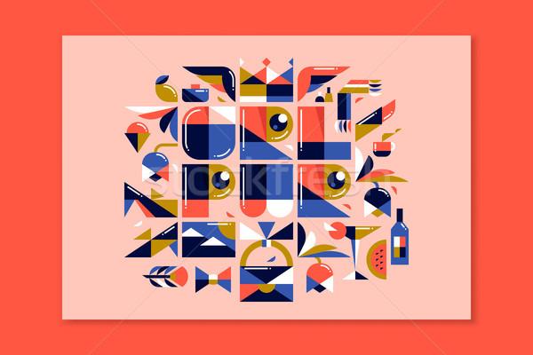 современных девушки власти красочный плакат дизайна Сток-фото © ussr