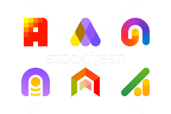 Logo or icon of letter A for accounting and auditing industry Stock photo © ussr